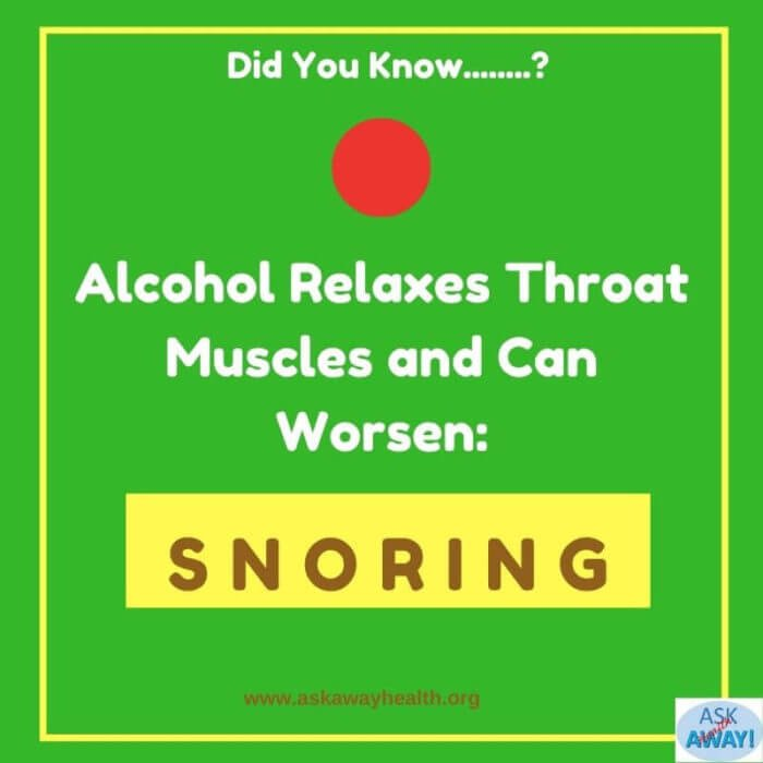 Cutting down alcohol helps prevent snoring