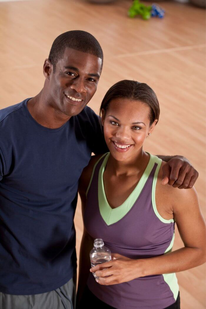 Young fit looking couple with an after exercise glow.