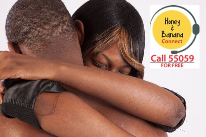 African couple embracing - image for article on contraceptive pills in Nigeria